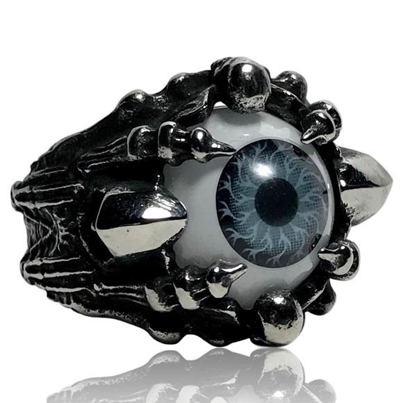 Other - Mechanical Robotic Grim Reaper Gray Evil Eye Ring